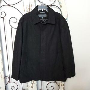 Perry Ellis Portfolio wool blend coat large